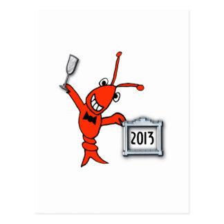 Año Nuevo de los cangrejos/de la langosta 2013 Postal