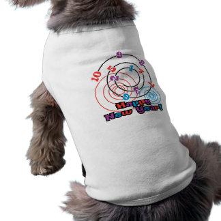 Año Nuevo de los números Ropa Perro