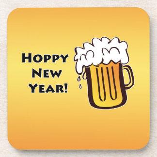 Año Nuevo de lúpulo Posavasos