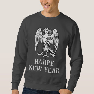 Año Nuevo del Harpy feliz Sudadera