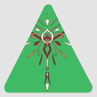 Año Nuevo del navidad del día de fiesta del Pegatinas De Triangulo Personalizadas
