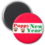 ¡Año Nuevo del perrito! Imán