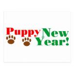 ¡Año Nuevo del perrito! Postal
