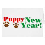 ¡Año Nuevo del perrito! Tarjeta