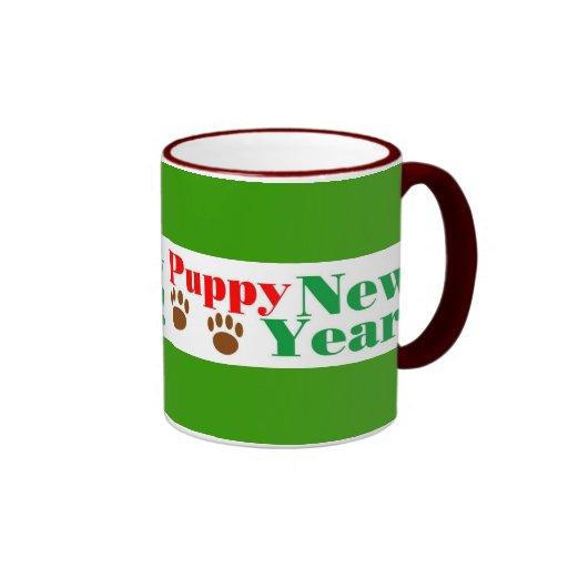 ¡Año Nuevo del perrito! Taza