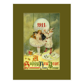 Año Nuevo del siglo del vintage Tarjetas Postales