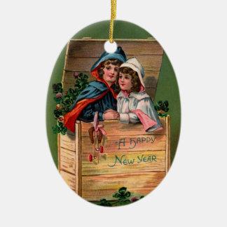 Año Nuevo del vintage Ornamente De Reyes