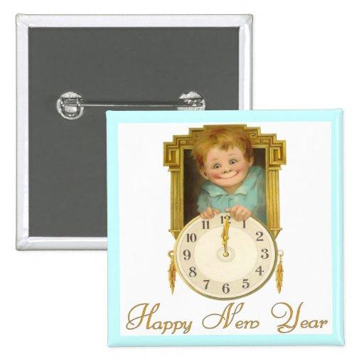 Año Nuevo del vintage Pins