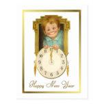 Año Nuevo del vintage Postal