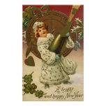 Año Nuevo del vintage Poster