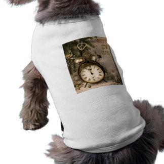 Año Nuevo del vintage Ropa De Mascota