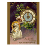 Año Nuevo del vintage Tarjeta Postal