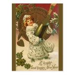 Año Nuevo del vintage Tarjetas Postales