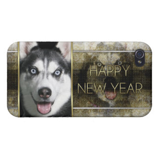 Año Nuevo - elegancia de oro - husky siberiano iPhone 4/4S Carcasa