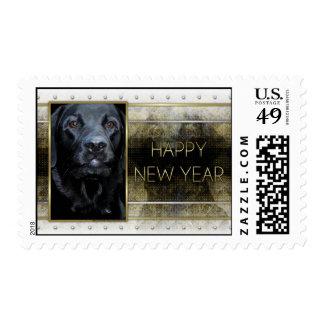 Año Nuevo - elegancia de oro - Labrador - Sellos