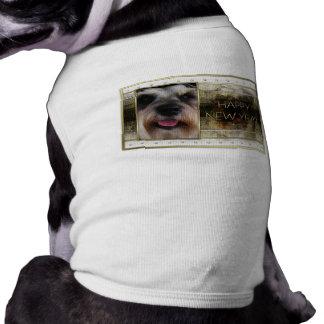 Año Nuevo - elegancia de oro - Schnauzer Camisas De Perritos