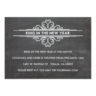 Año Nuevo Invintation de la pizarra Invitacion Personal