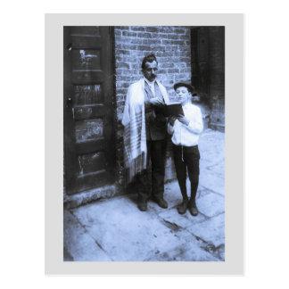 Año Nuevo judío 1907 NY de la foto del vintage Postal