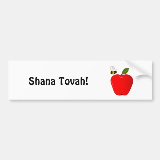 Año Nuevo judío de Shanah Tovah Rosh Hashanah Pegatina Para Auto