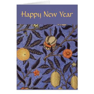 Año Nuevo judío feliz de la granada Tarjeta Pequeña