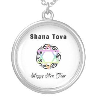 Año Nuevo judío Shana Tova Colgante Redondo