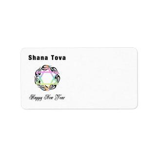 Año Nuevo judío Shana Tova Etiquetas De Dirección