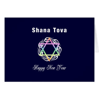 Año Nuevo judío Shana Tova Tarjeta Pequeña