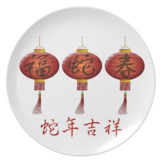 Año Nuevo lunar chino de la placa de la serpiente Plato Para Fiesta