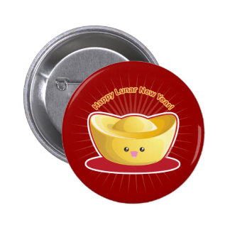 ¡Año Nuevo lunar feliz! Pin Redondo 5 Cm