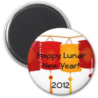 Año Nuevo lunar Imán Redondo 5 Cm