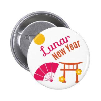 Año Nuevo lunar Pin Redondo 5 Cm