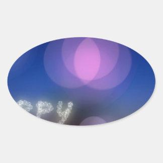 Año Nuevo Pegatinas De Oval Personalizadas