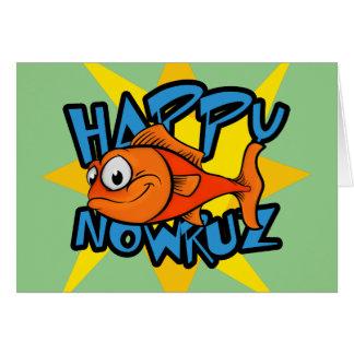 Año Nuevo persa sonriente Nowruz de Sun del Tarjeta De Felicitación