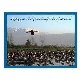 Año Nuevo que comienza la postal bien