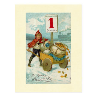 Año Nuevo rico Postal