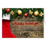 Año Nuevo Santa de la Navidad feliz de los días de Tarjetas