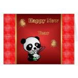 Año Nuevo vietnamita chino feliz de la panda del A Tarjeton