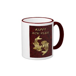 Año Nuevo vietnamita chino feliz del koi del Año N Tazas