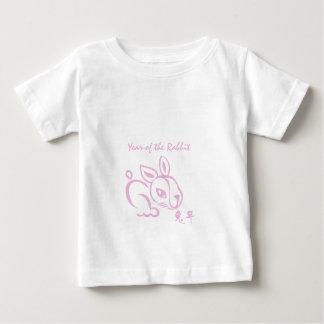 Año rosado del conejo - Año Nuevo chino Playera De Bebé
