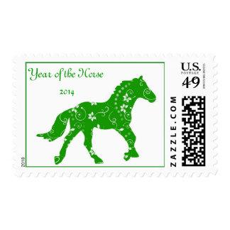 Año verde del sello del caballo
