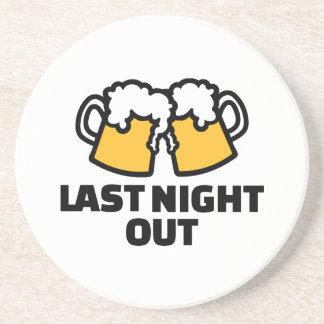 Anoche hacia fuera cerveza posavasos diseño