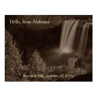 Anochecer cascada - Noccalula baja Tarjetas Postales