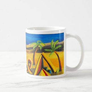 Anochecer en el desierto taza