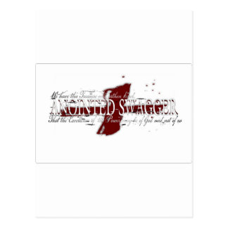 ANOINTED SWAGGER 41 WHT POSTCARD
