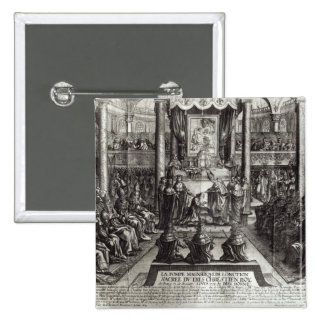 Anointing of Louis XIV  at Reims 2 Inch Square Button