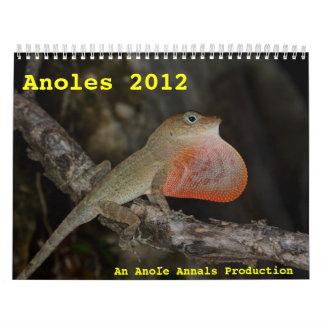 Anoles 2012 calendar