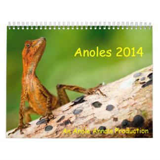 Anoles 2014 wall calendars