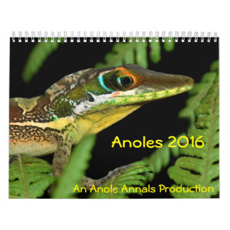 Anoles 2016 - An Anole Annals Production Calendar
