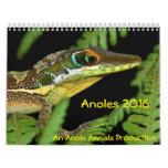 Anoles 2016 - Una producción de los anales de Calendario De Pared