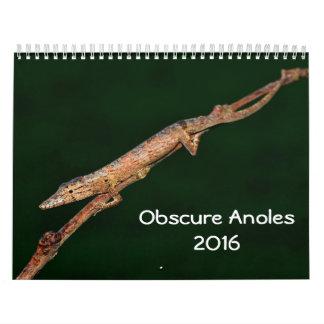 Anoles indeterminado 2016 - una producción de los calendario